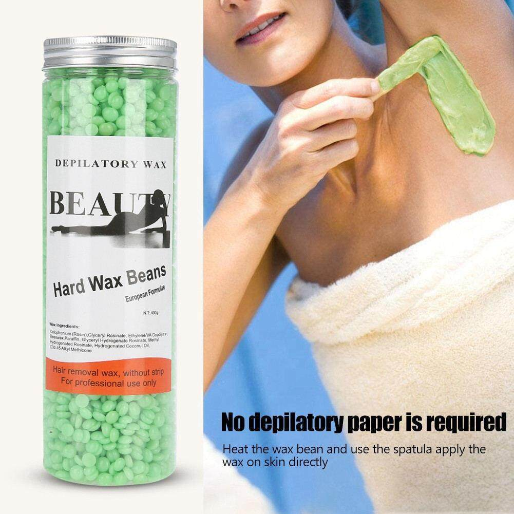 400g/Bottle 3 Types Depilatory Hard Wax Bean Arm Body Hair Removal Beeswax Pellets (Tea Tree) tốt nhất
