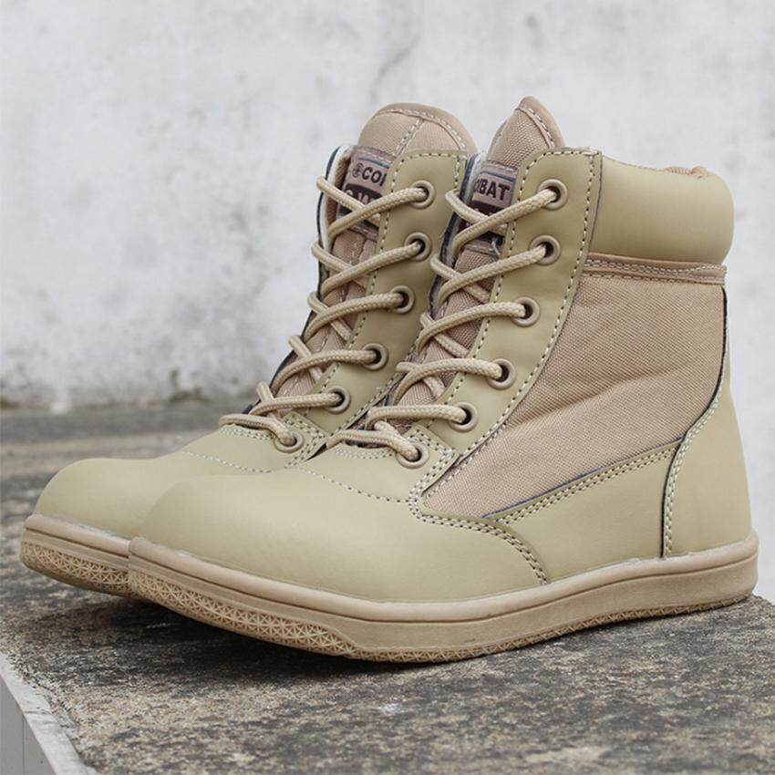 Outdoor Children Tactical Boots Military Army Shoes Breathable Shoesnon-Slip Desert Hiking Boot - Intl By Honesty Store.
