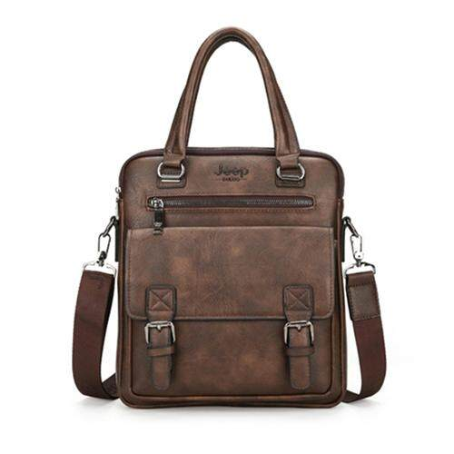 JEEP BULUO Famous Brand New Design Mens Briefcase Satchel Bags For Men Business Fashion Messenger Bag 14 Laptop Bag