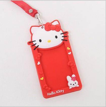 Red Hello Kitty Lanyard ID Holder