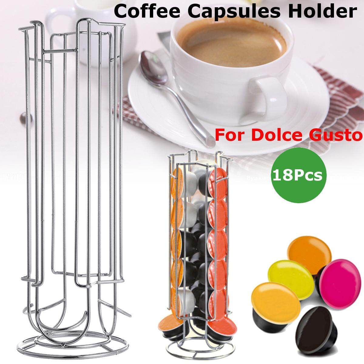 18 Coffee Capsules Pod Holder Stand Dispenser Rack Storage Capsule For Dolce Gusto By Glimmer.
