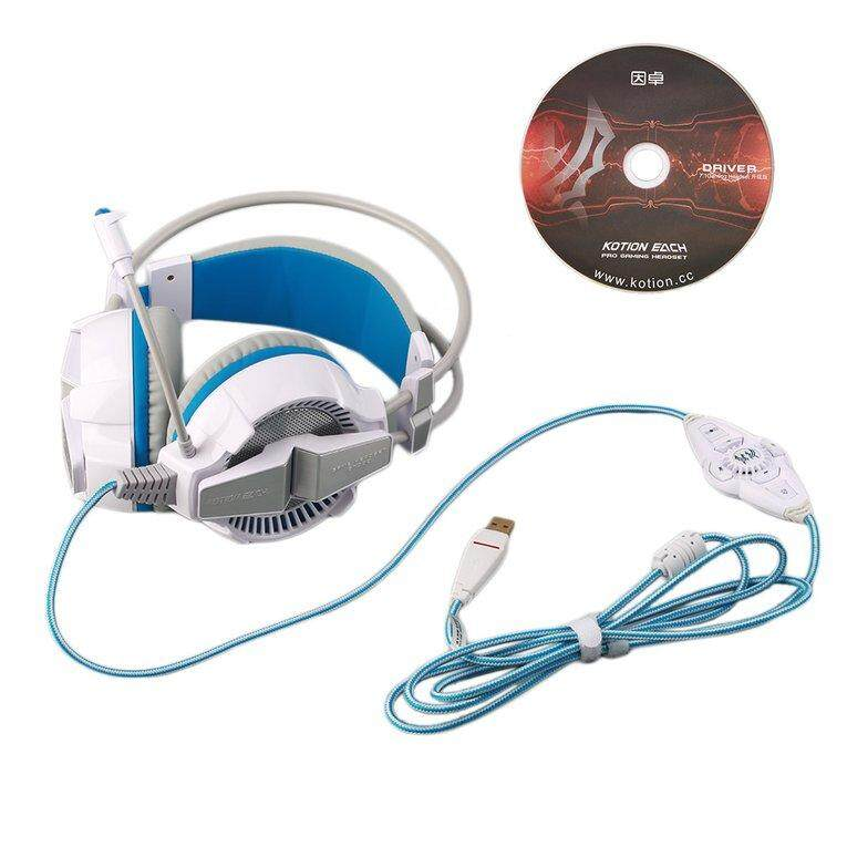 OSMAN G7000 7.1 Virtual LED Surround Sound USB Game Computer Headset Headphone