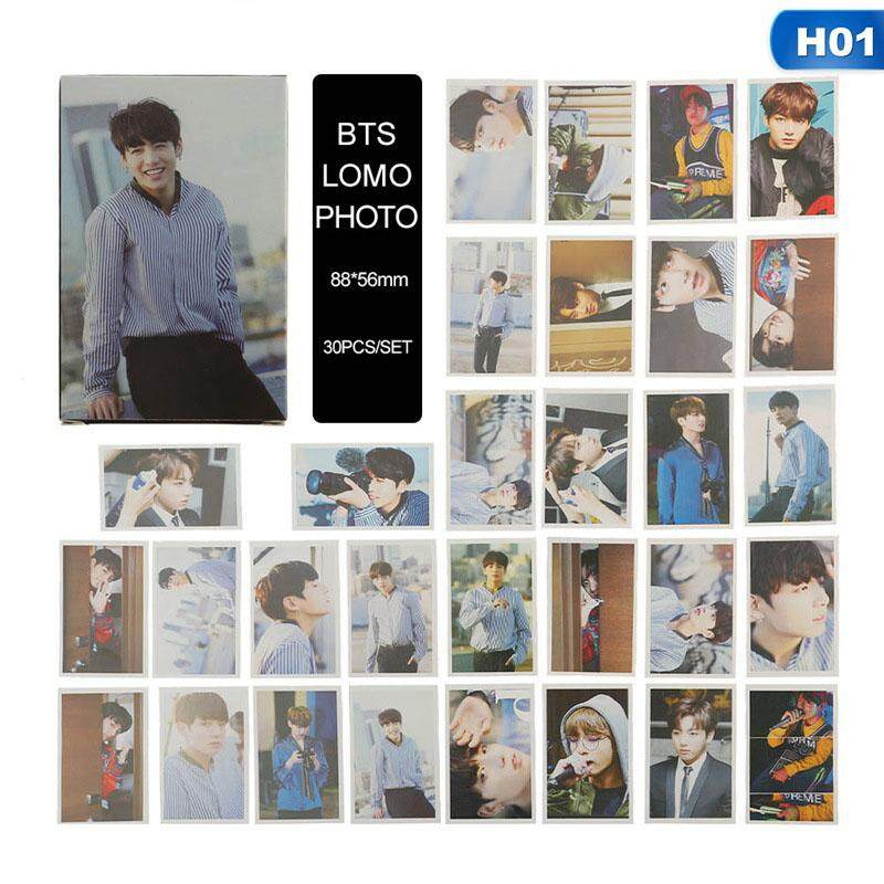 BZY 30 Pcs/set BTS Cs Dicon Photo Album LOMO Cards New Fashion Self Made