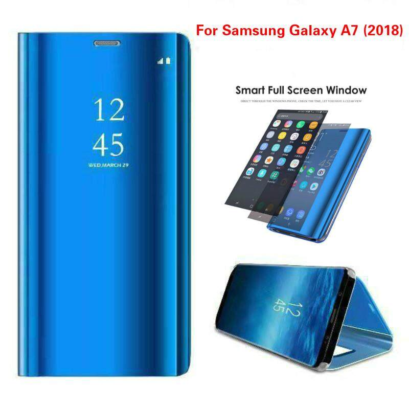 Features Galaxy A7 2018 Cover Smart Mirror Flip Case For Samsung