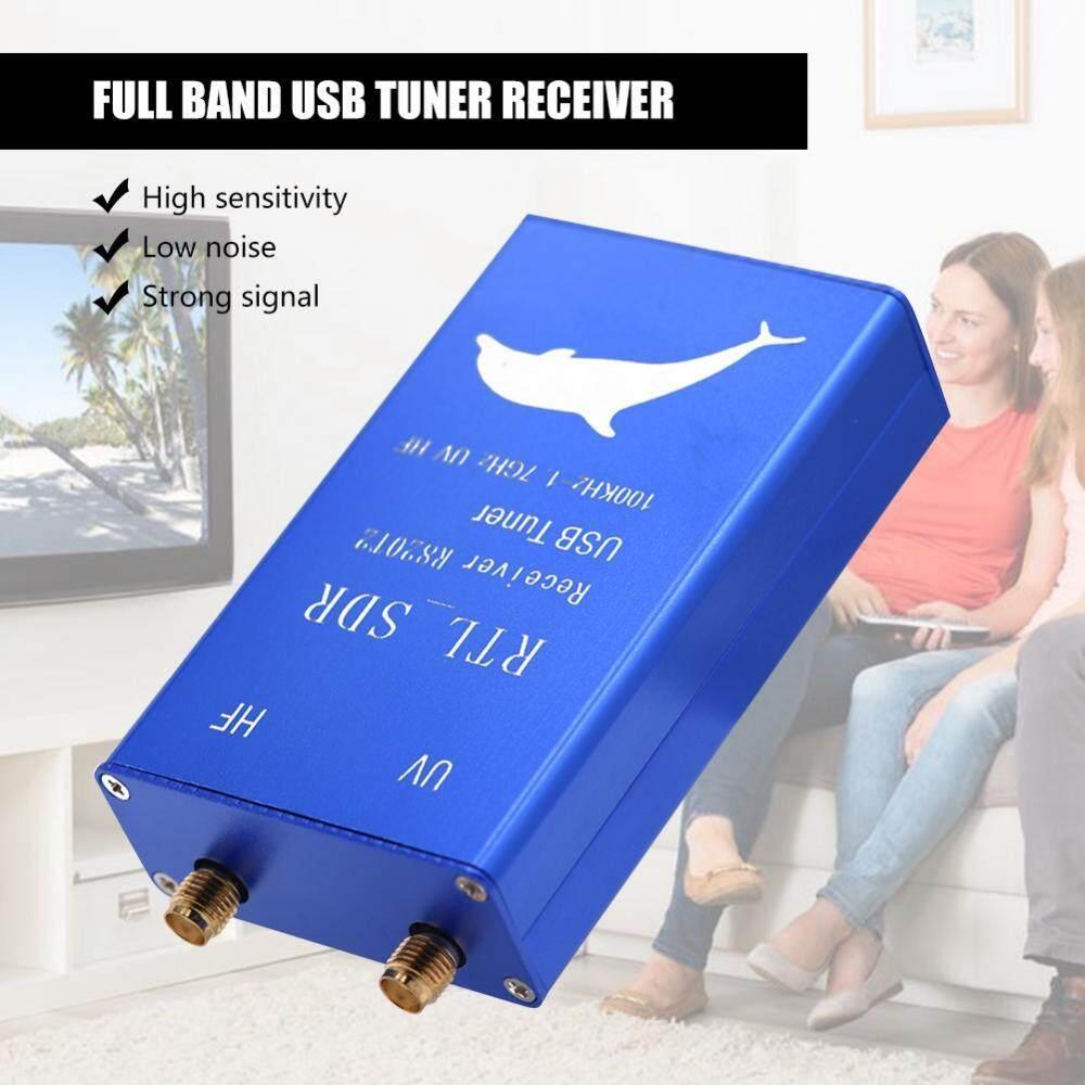 USB Tuner Receiver RTL2832U+R820T2 100Khz-1 7GHz Full Band UHF VHF HF  RTL-SDR AM/ FM USB Tuner Receiver - intl Singapore