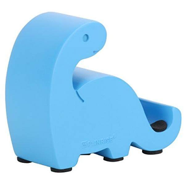 Cell Phones Stands Nugoo Resin Art Craft Animal Cute Mini Dinosaur Desktop Cell Phone Stand Mounts,Candy Color Dino Smart Phone Holder For iPhone iPad Samsung Tablet Kindle - Blue - intl