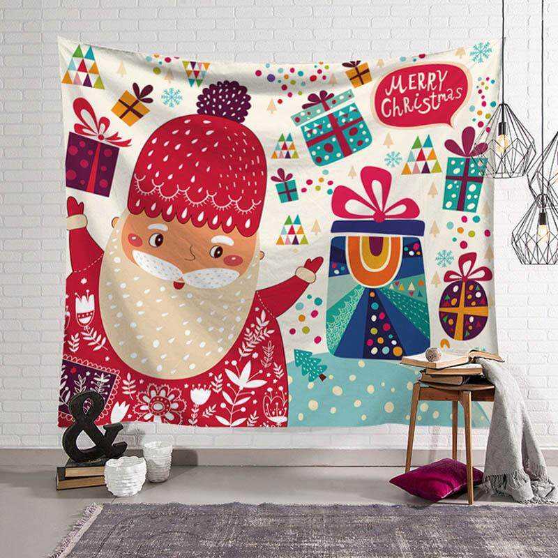 Christmas Wall Tapestry Modern Wall Hanging Fabric Table Cloth Picnic Cloth Home Decor Photo Prop 203x150cm