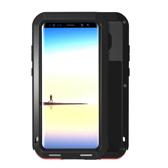 Love Mei Shockproof Drop-Proof Debu Kuat Case untuk Samsung Galaxy Note 8 N950-Hitam-Internasional