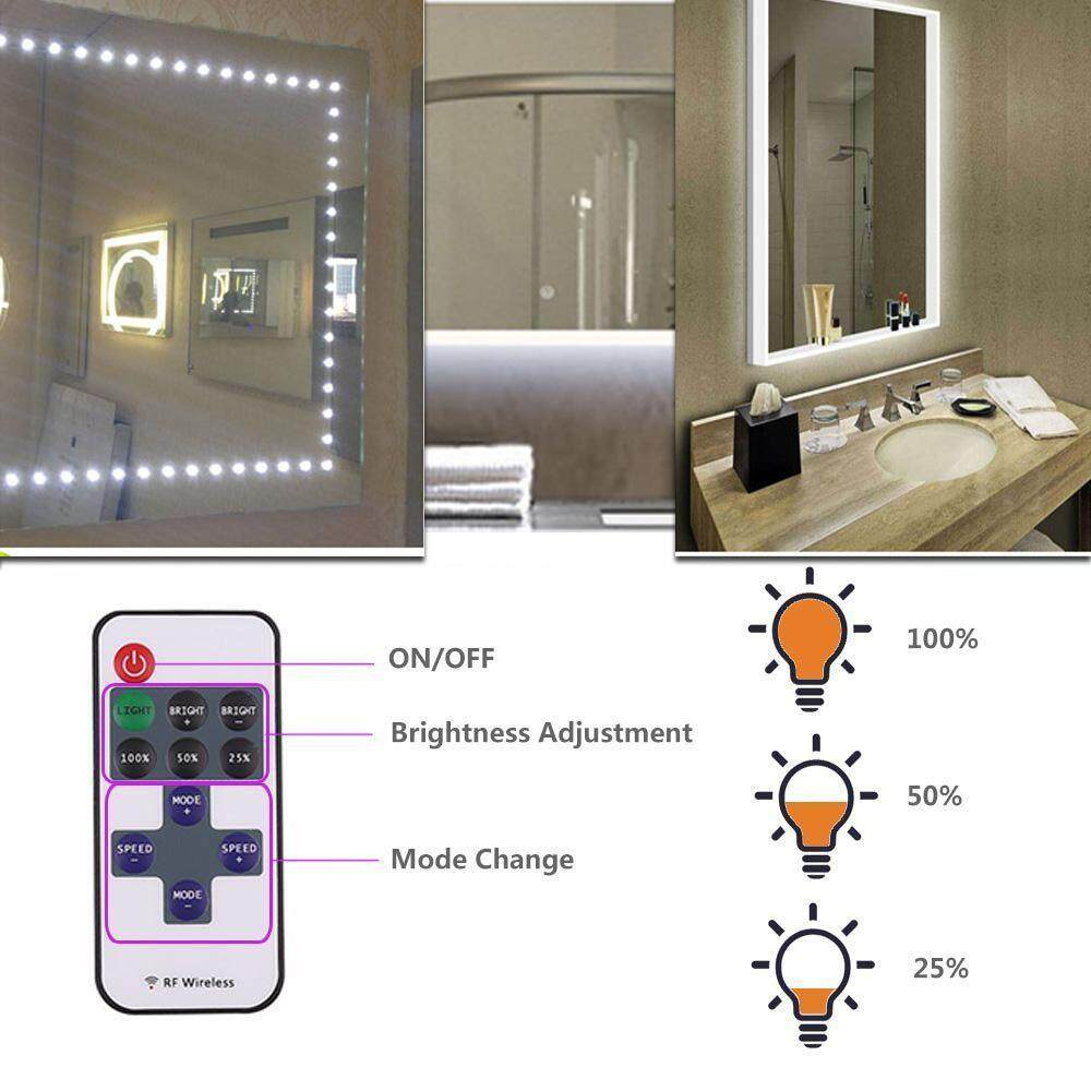 Hoopchina 5FT 60 LEDs Make-up Vanity Mirror Light for Vanity Makeup Table Set with Dimmer and Power Supply, DIY Hollywood Style Mirror, Mirror not Included Philippines