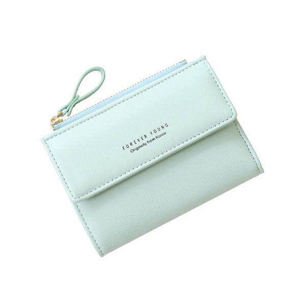 Forever Young Women Wallet Girl Wallet Leather Wallet Small Pouch Purse Fold Wallet