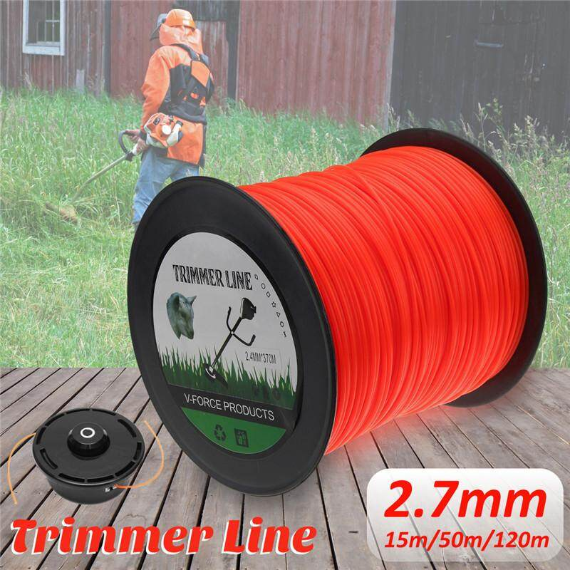 With packaging Orange 2.7mm 15m 50m 120m Trimmer Line Mower Rope