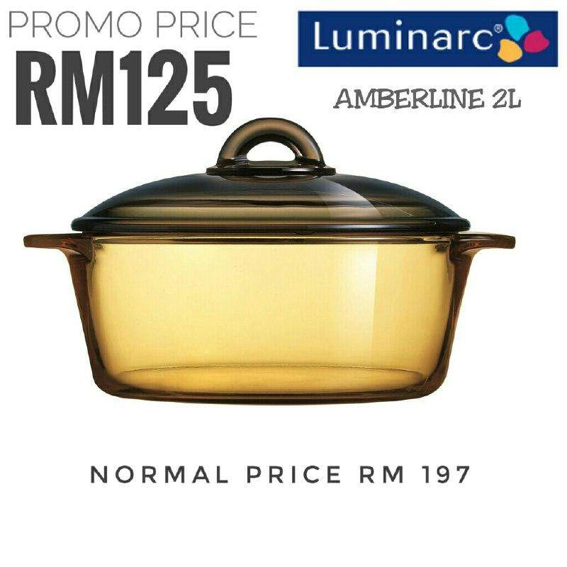 Hot ! Luminarc Blooming Amberline Casserole With Glass Lid (Brown)