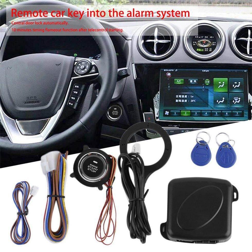 GOFT Car Smart Start System Push Engine Start Button Engine Lock Ignition Starter Black