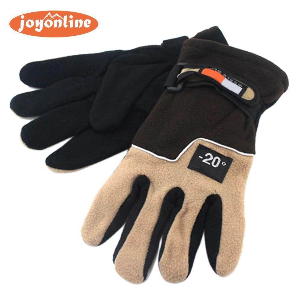 Hình ảnh Men Winter Warm Fleece Thermal Motorcycle Ski Snow Snowboard Gloves(Neutral)-