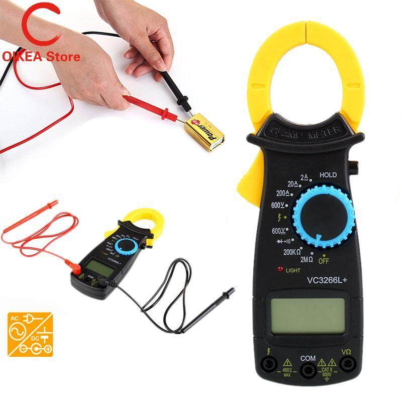 LCD Digital Clamp Multimeter AC DC Volt Voltage Amp Electronic Tester Meter