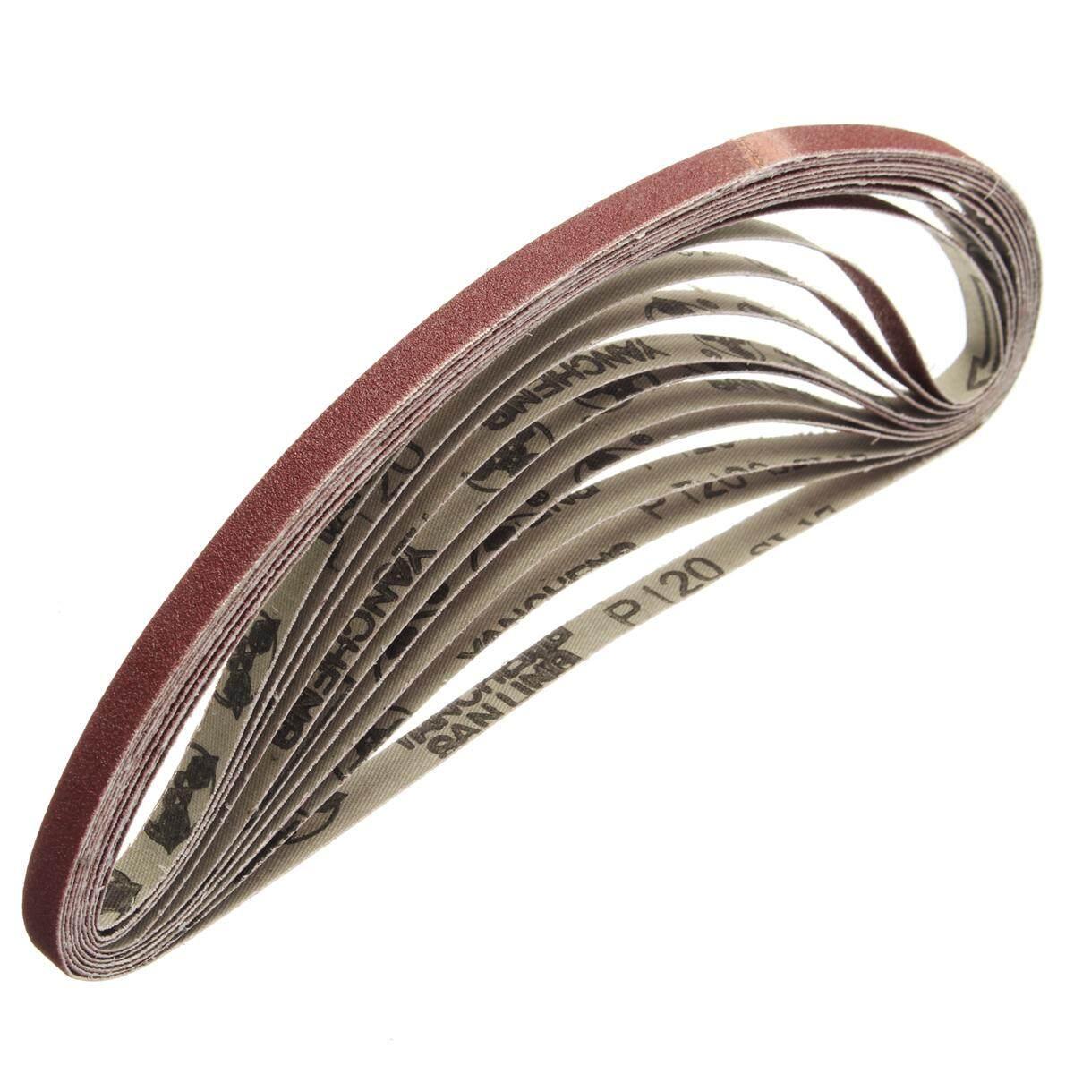 10x600mm Sanding Belt For flush belt machines polishing machine 120 Grit - intl