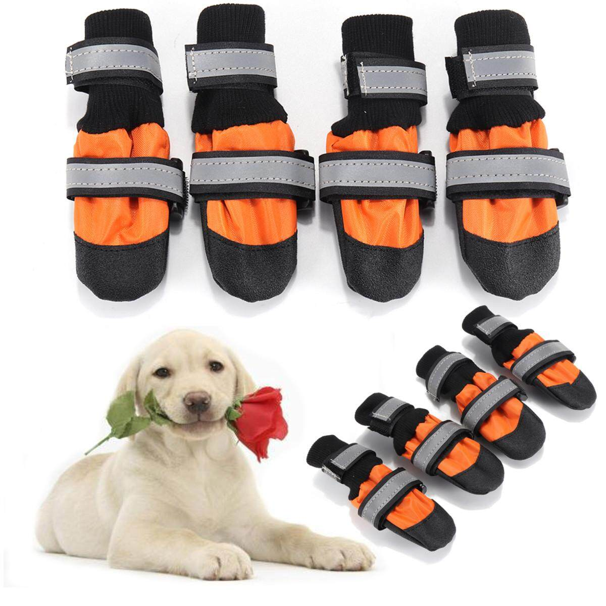 Large Dog Shoes Boots Booties Snow Winter Waterproof Reflective Anti-Slip  S By Moonbeam.