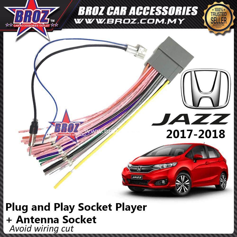 Broz Honda Jazz 2017 - 2018 OEM Plug and Play Socket Cable Player + Antenna Socket