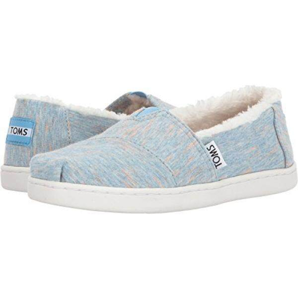 f92a5549993 TOMS Kids Girls Alpargata (Little Kid Big Kid) Alaskan Blue Heather Jersey