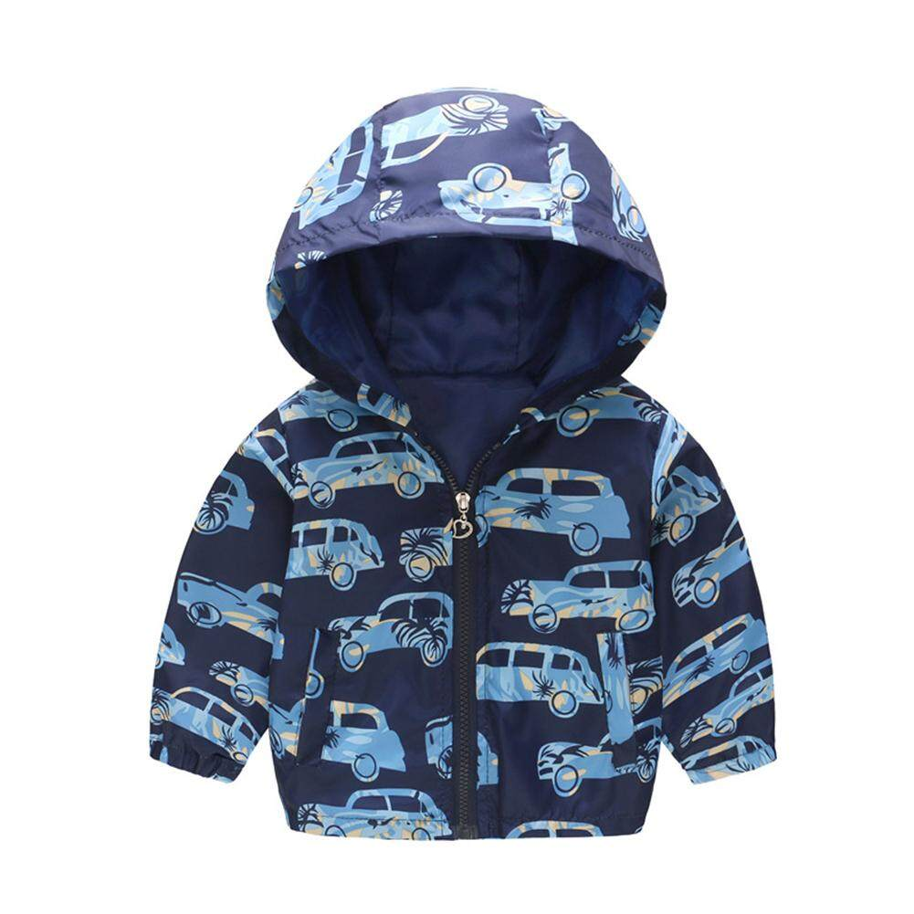 Baby Boy Hooded Jacket Cute Cartoon Hoodie Coat Top for Kids