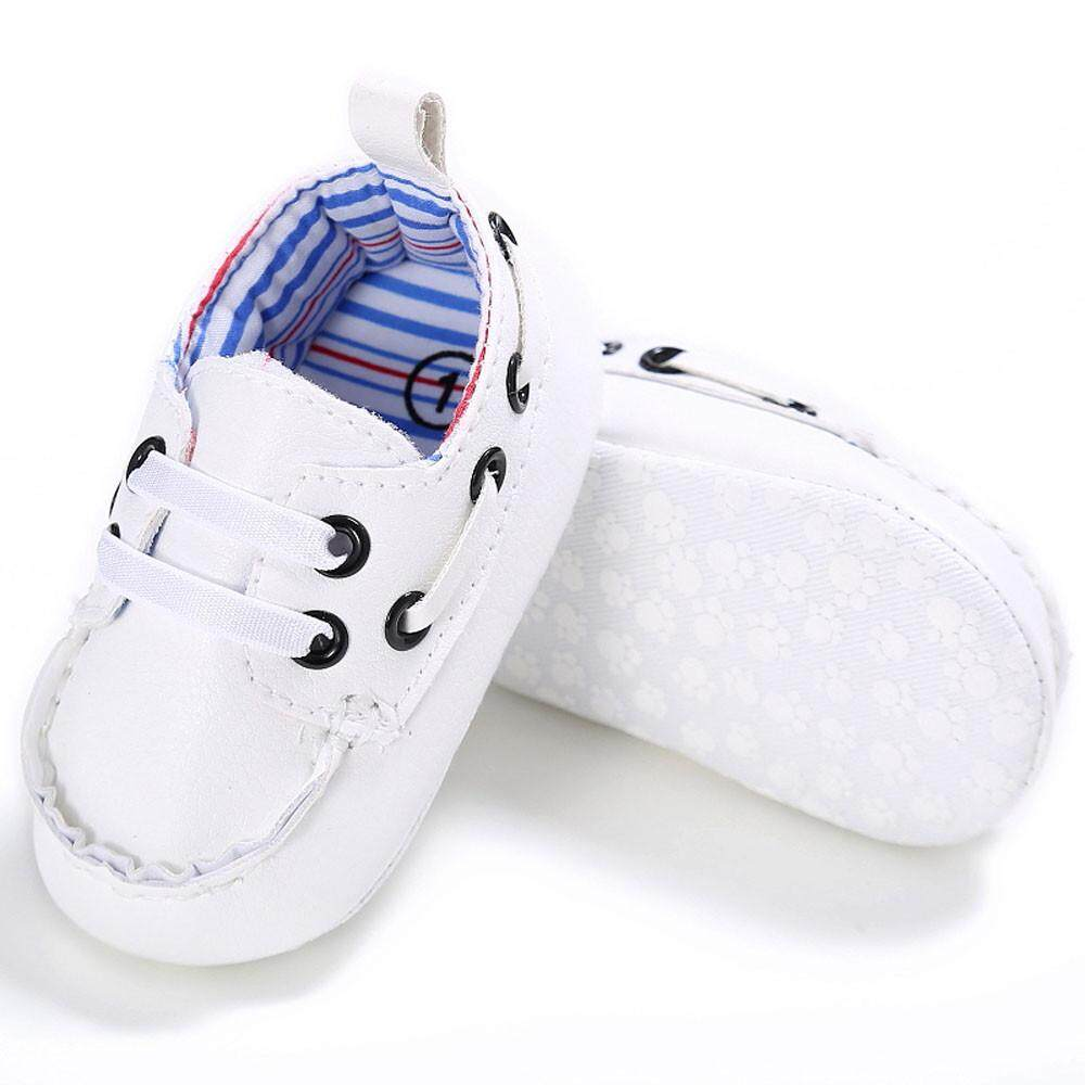 Baby Shoes Boy Girl Newborn Leather Crib Soft Sole Shoe Sneakers NY/1