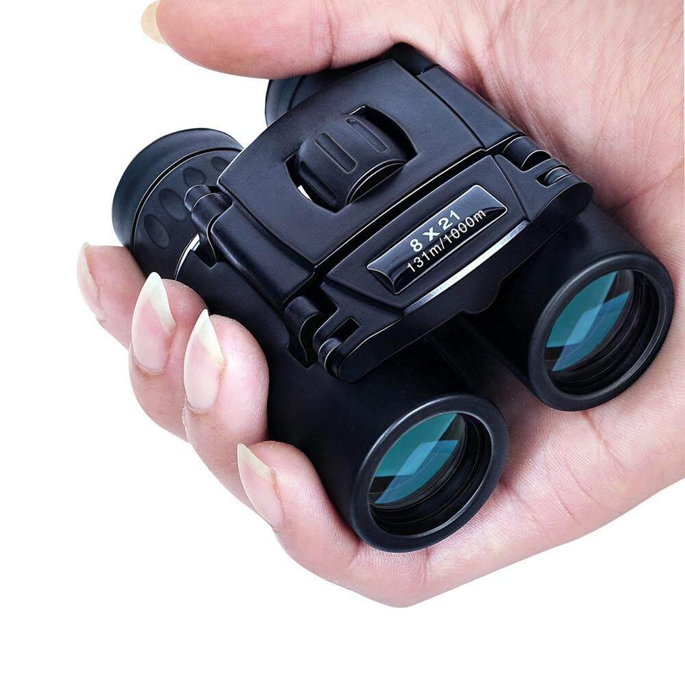 8X21 Kompak Zoom Teropong Jarak Jauh 3000 M Lipat HD Kuat Teleskop Mini BAK4 FMC Optik
