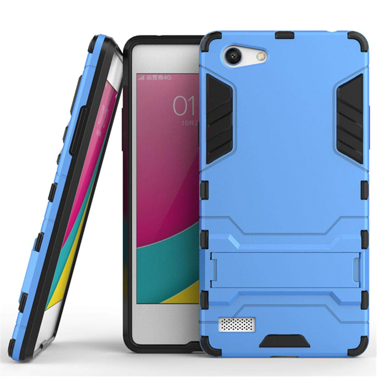 Hình ảnh for OPPO A33 & NEO7 Case 2in1 PC+TPU Hybrid Slim Back Case Ultra Thin Armor Cover, with Kickstand Holder, Glossy, Minimalist, Casual
