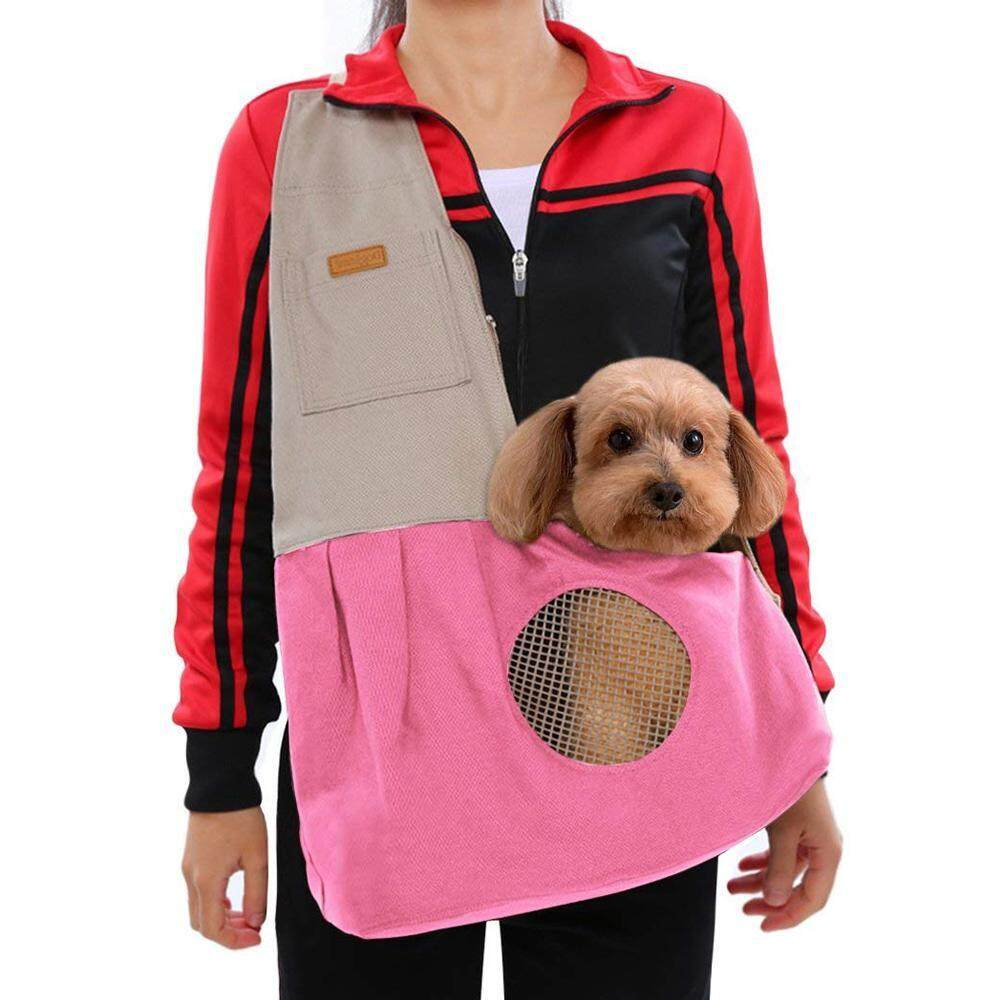 Leegoal Leegoal Pet Sling Carrier For Puppy Small Dog And Cat, Adjustable & Reversible & Comfortable & Easy To Clean Pet Sling Carrier Hands Shoulder Carry Bag Pet Travel Carrier By Leegoal.