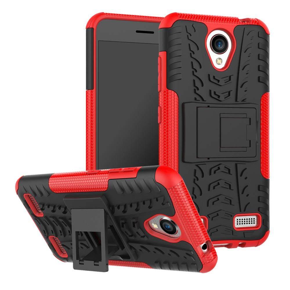 Upaitou Baja Kasus untuk ZTE Blade A520 Sulit TPU Kasar + PC Layar Ganda Protektif Case