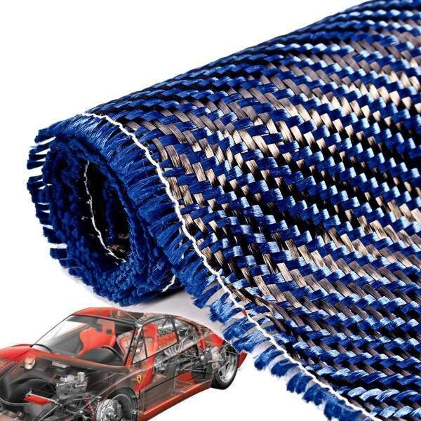 Vải Sợi Carbon Xanh 36  X 12  3K 200gsm Xe Đạp Vải Chéo Dệt Trơn-