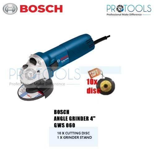 BOSCH GWS060 4 Angle Grinder - FREE 10X DISC
