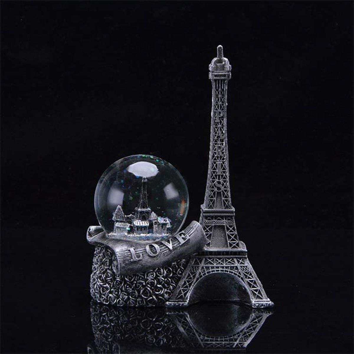 Water Snow Globe Glitter Paris Landmark Eiffel Tower Love Girl Birthday Gift