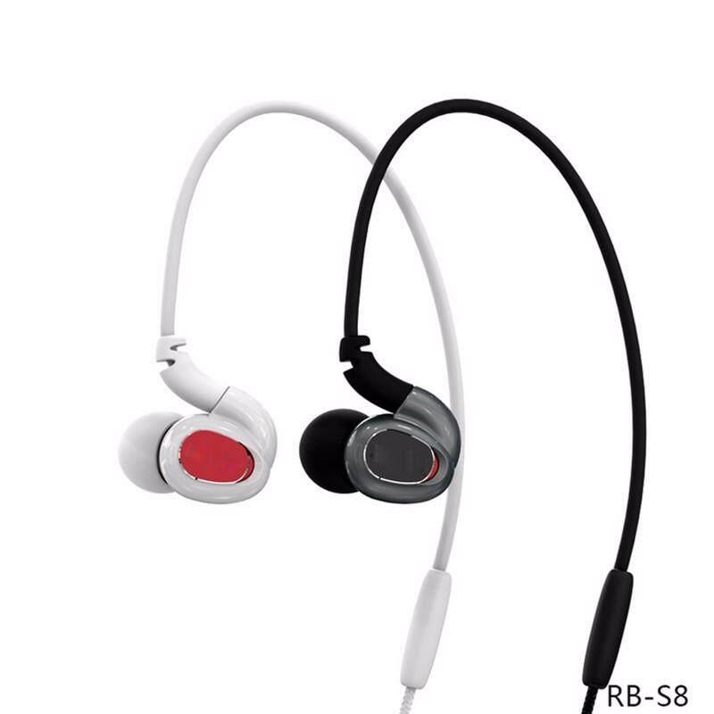 REMAX S8 Wire1ess Bluetooth Earphone Headset Olahraga dengan Mikrofon Stereo untuk Iphone