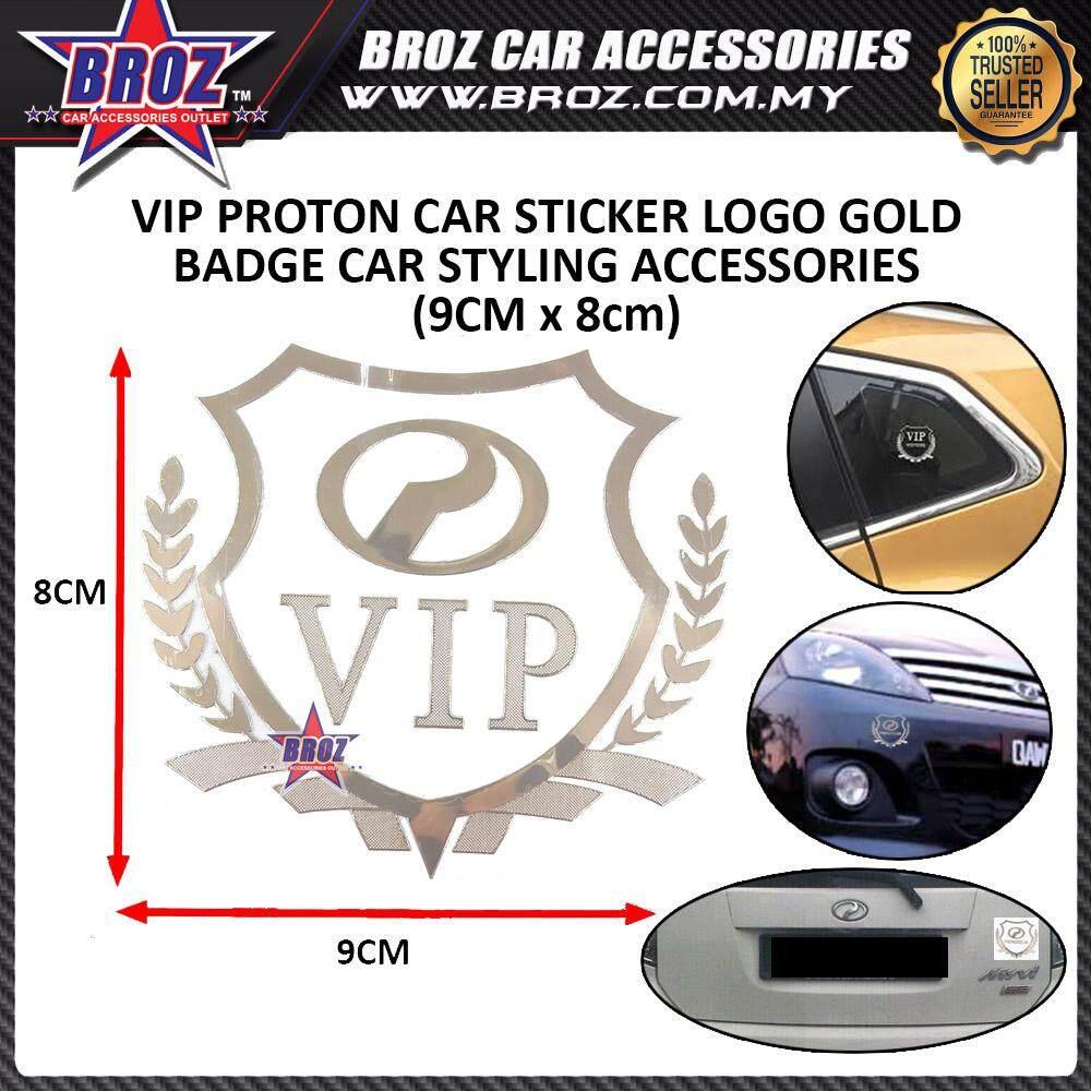 PERODUA LOGO + VIP(GOLD) Car Accessories Body Sticker Auto Decorative Emblem Badge Decals