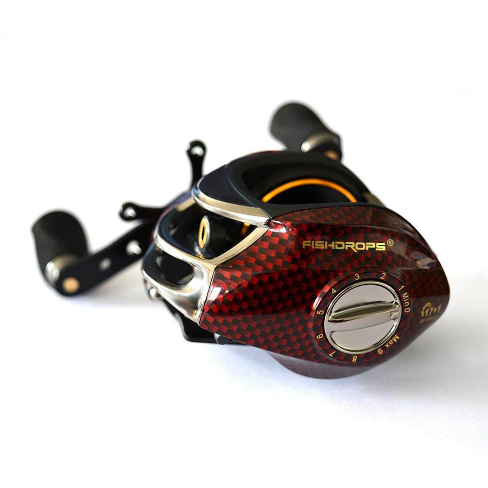 Wonderful Toy Fishdrops BC150 18BB Baitcasting Fishing Reel Low-profile Fishing Gear Left Hand/Right Hand Specification:BC150R right hand