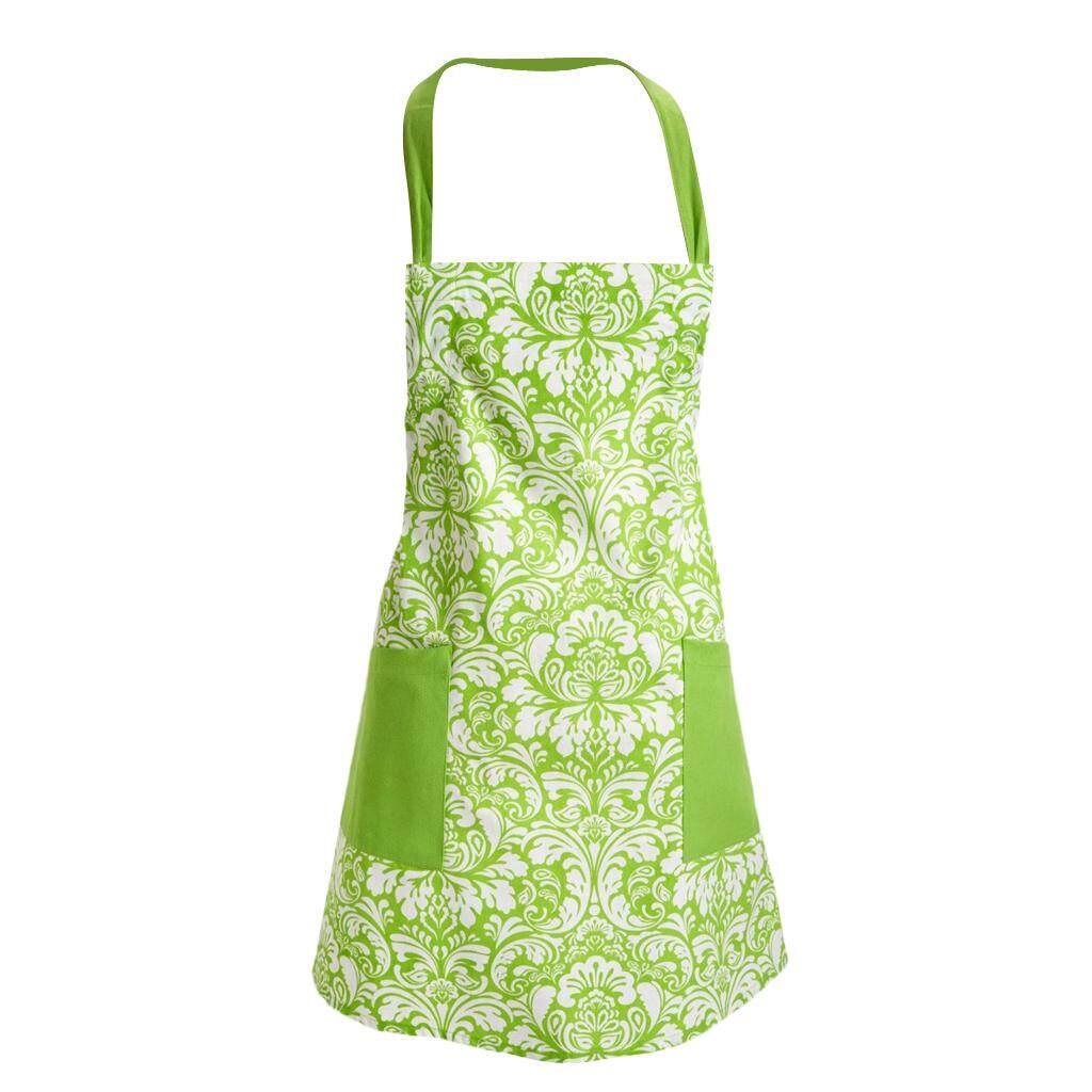 6912dc3614 BolehDeals Apron with Pockets Pure Cotton Cooking Kitchen Restaurant Bib  Light Green