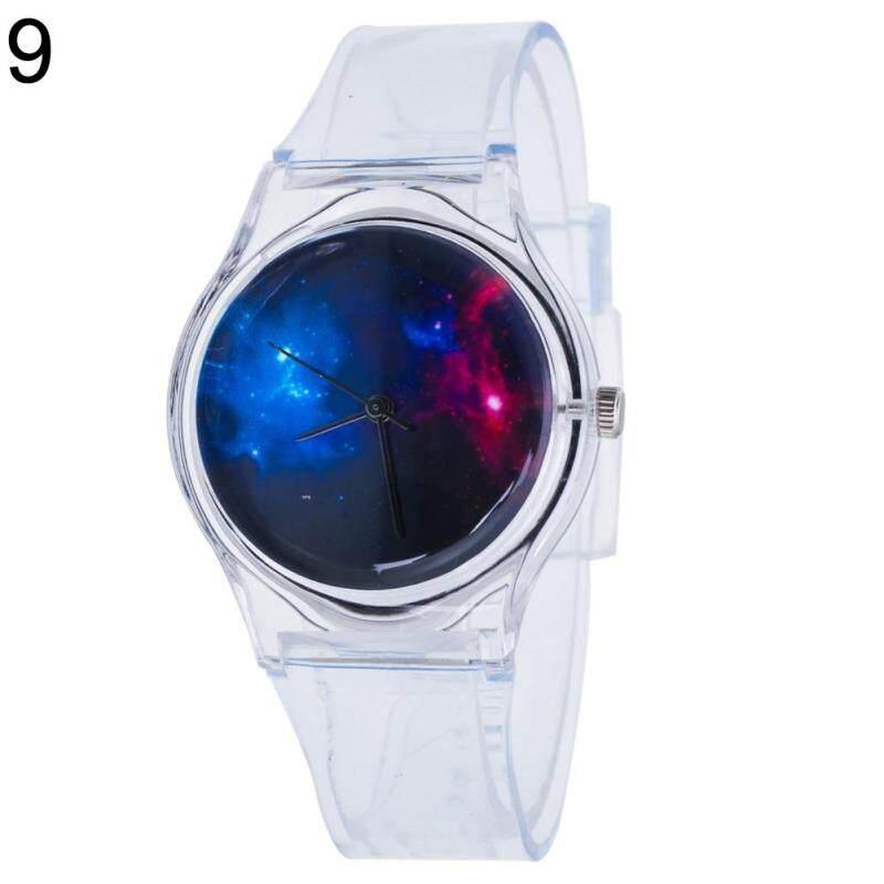 Phoenix B2C Fashion Transparent Kids Women Colorful Dial Jelly Quartz Analog Wrist Watch (9#) Malaysia