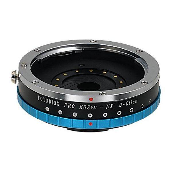 Fotodiox Pro Lens Mount Adapter - Canon EOS (EF) D/SLR Lens to Samsung NX Mount Mirrorless Camera Body with Built-In Aperture Iris