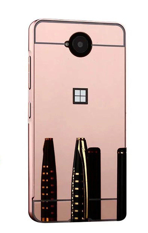 For Microsoft Lumia 650 Metal Air Aluminum Bumper Detachable Mirror Ultra-Thin Frame Hard Back Case