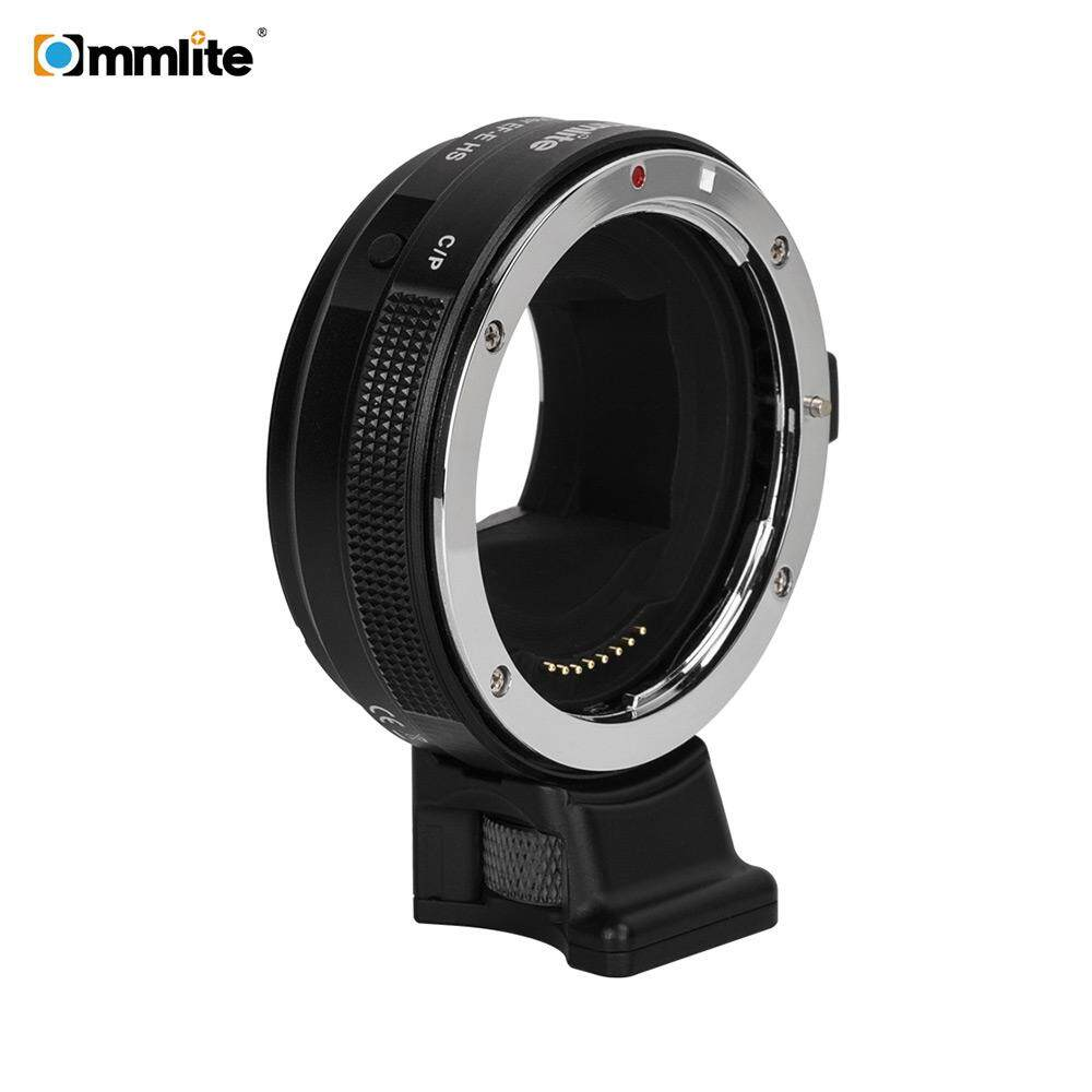 Commlite CM-EF-E HS Electric High Speed Lens Mount Adapter Ring AF Auto Focus for Canon EF/ EF-S Lens to E-Mount Camera for Sony A9/ A7R2/ A7M2/ A6500/ A6300/ A7/ A6000/ A5100/ NEX-7/ NEX-5N/ NEX-5/ NEX-3C with CDAF PDAF Switch USB Firmware Update - intl