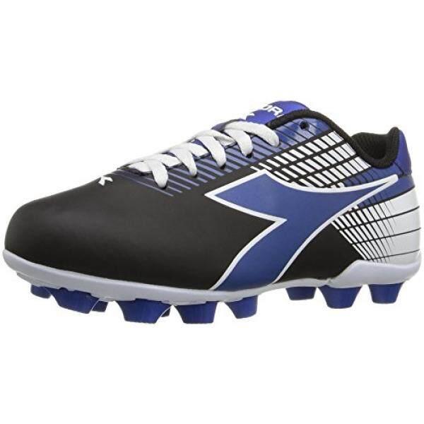 Diadora Kids Ladro MD Jr Soccer Shoe, Black/Blue/White, US Little Kid