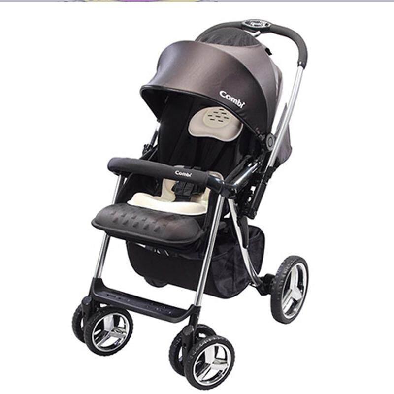 Combi Baby Stroller Mega Ride Deluxe Black Ultra Absorbent Egg Shock Material