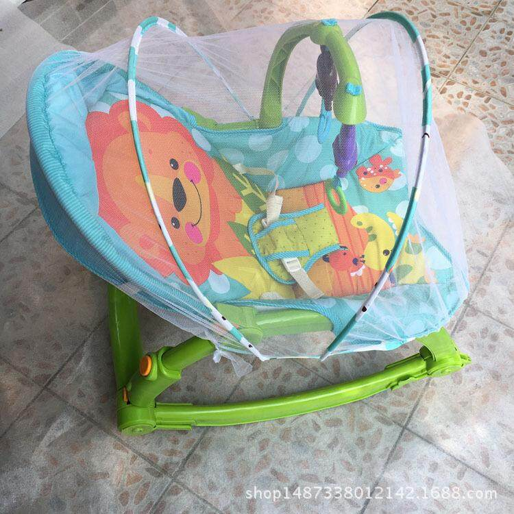 Baby Rocking Chair Mosquito Net Swing Baby Electric Cradle Bed Lying Chair Child Swing Mosquito Net - intl