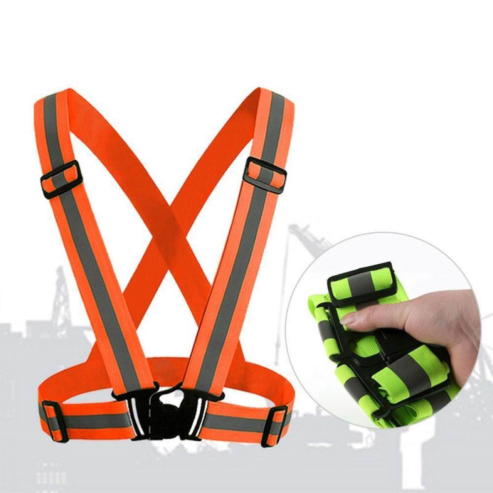 360 Degrees High Visibility Neon Safety Vest Reflective Belt Fit For Running Cycling Sports Outdoor Clothes By Oasis Times.