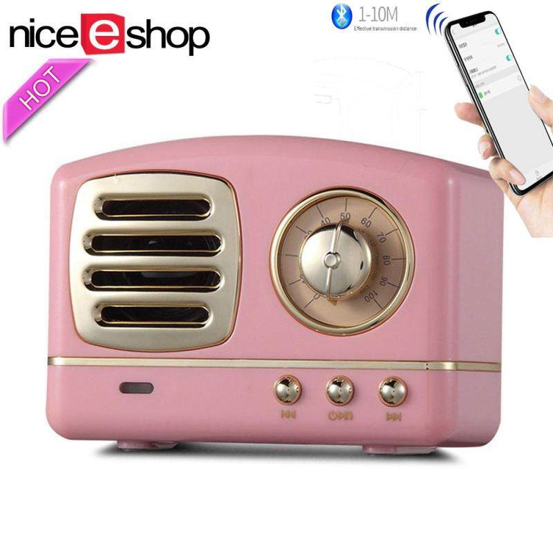 niceEshop HIFI Stereo Bluetooth V4.1 Speaker, Portable Wireless Speaker With FM Radio, Built In MIC And Aux Input Support TF Card U Disk Singapore