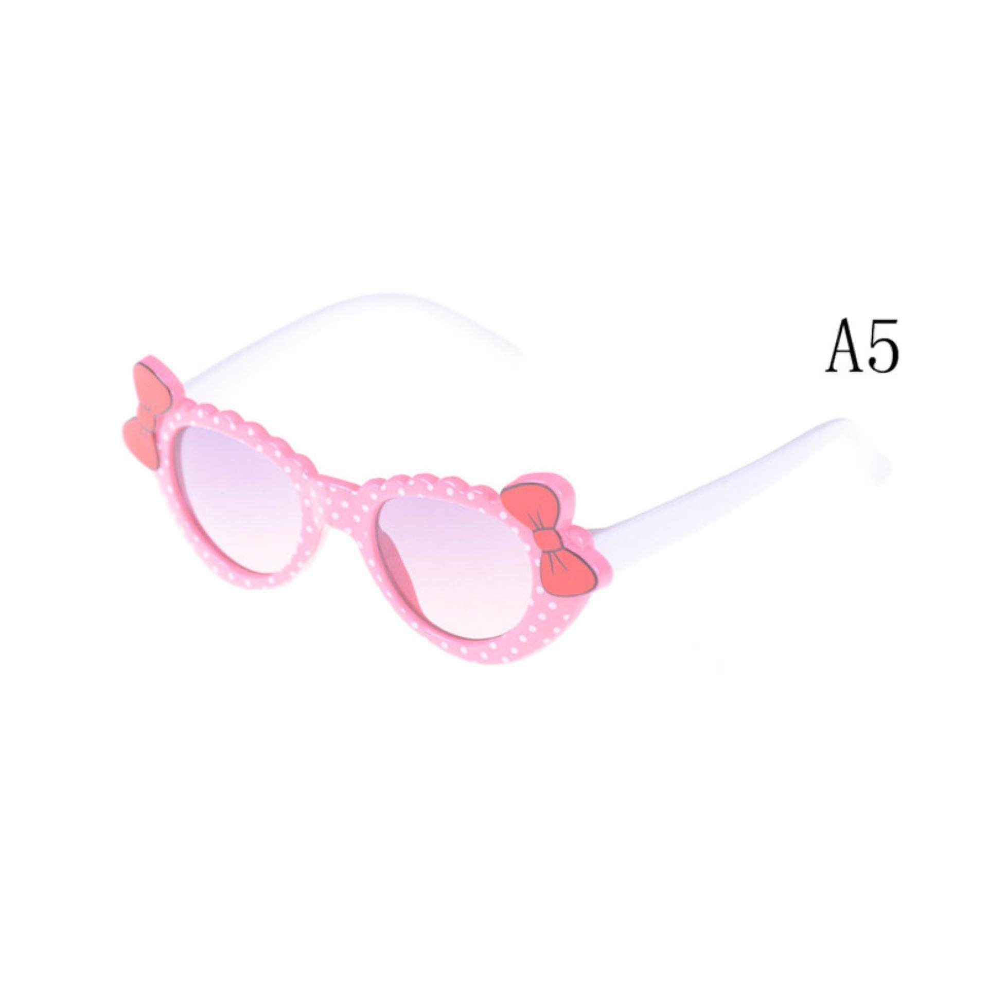 04a269cfd34 Fashion Boys Girls Kids Sunglasses Glass Child Goggles Bow Eyewear UV 400 A5