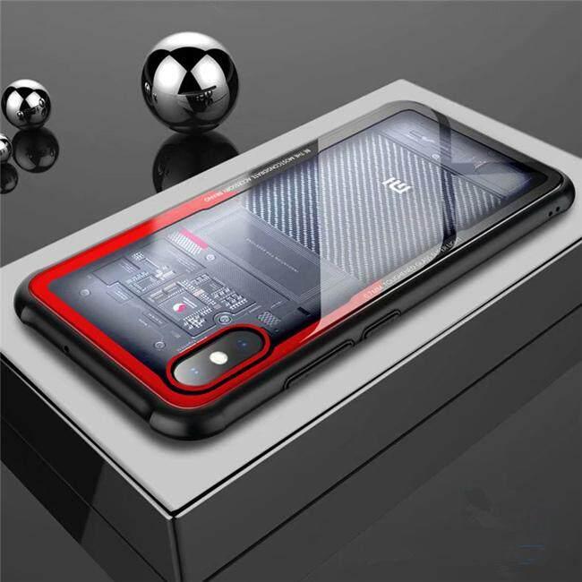 9 H Kaca Antigores Pelindung Ponsel Xiaomi Mi 8 Explorer Penutup Transparan Jernih Casing Bumper Silikon