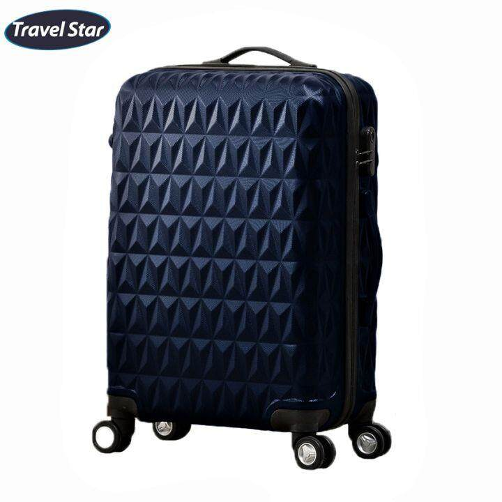 Travel Star 288 Triangle Design Hard Case Luggage Bagasi 24 Inches