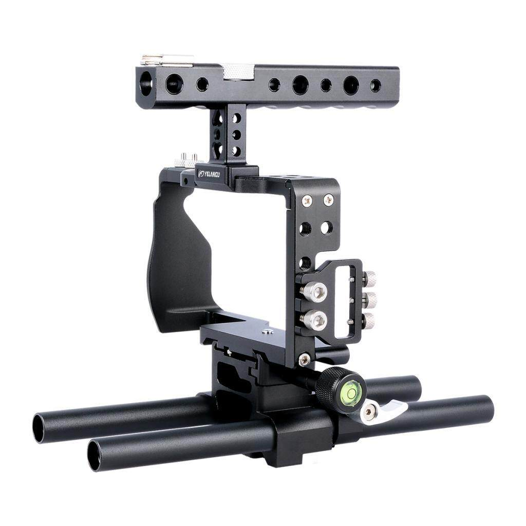 Miracle Shining Aluminum Camera Video Cage Film Movie Making Kit for Sony A6300 A6000 6500
