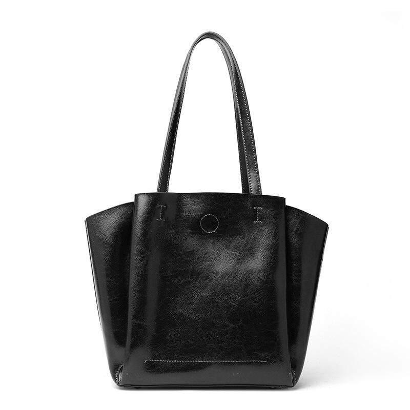 BeeGreen Real Cowhide Composite Bag Fashion Genuine Leather Tote bag Large Capacity Handbag Shoulder Solid Color Women Bag